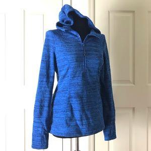Zella Blue Quarter Zip Pullover